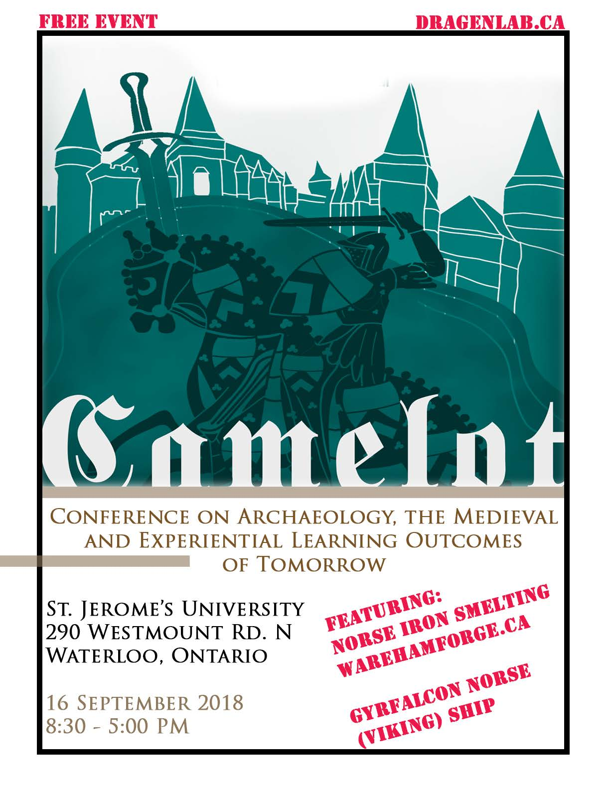 Poster for the 2018 CAMELOT Conference