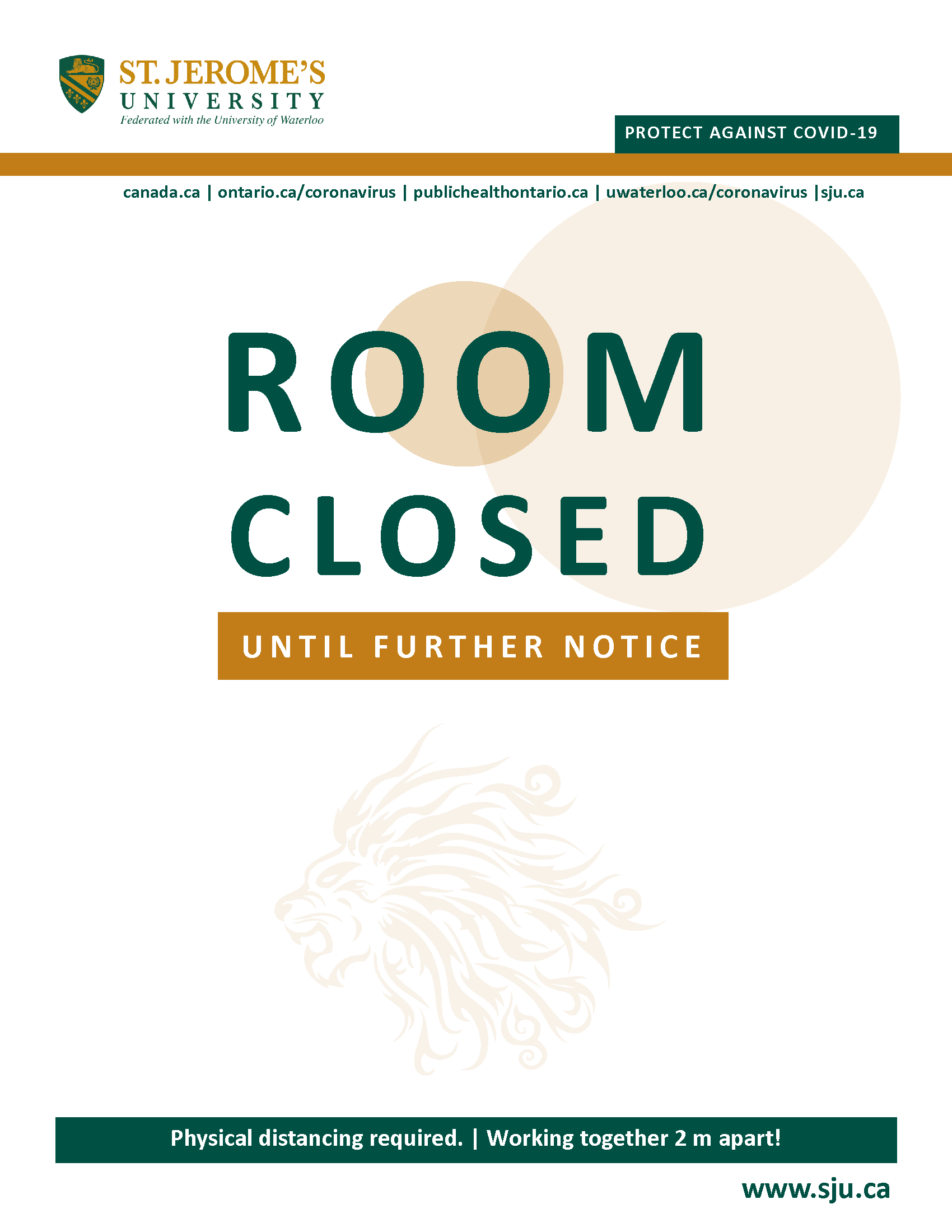 Text reads Room Closed Until Futher Notice