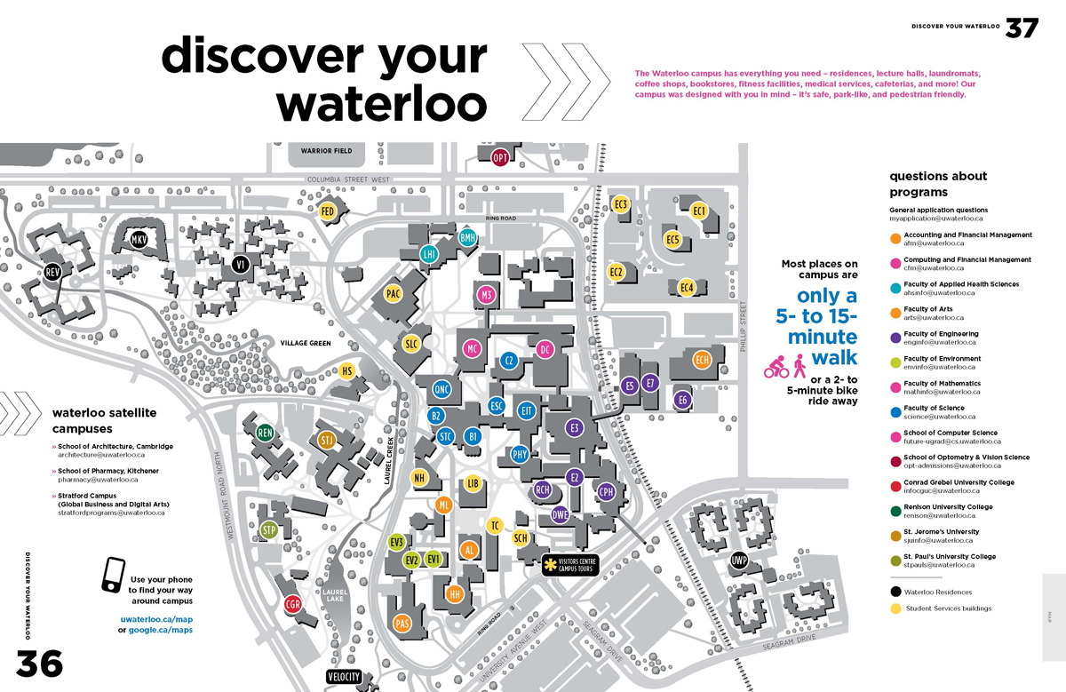 Image of map of University of Waterloo