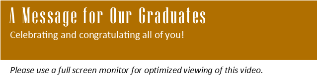 A Message for Our Graduates