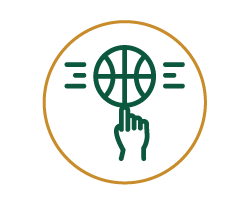 Icon for a basketball spinning one finger