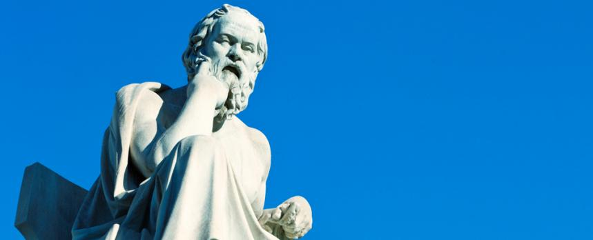 Image of Socrates statue