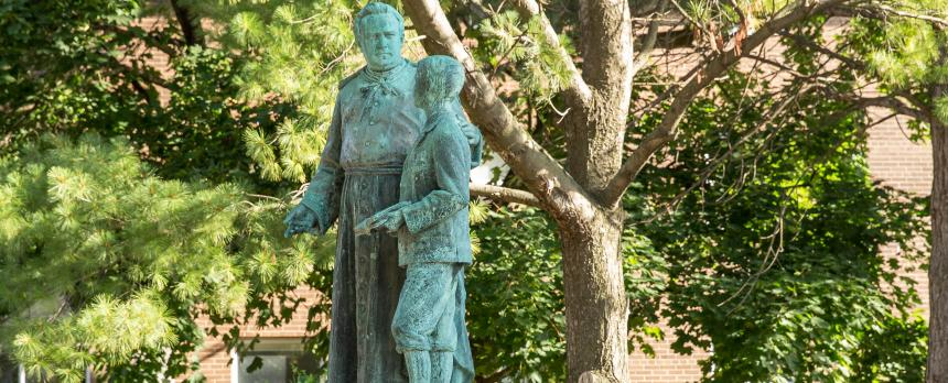 Image of a statue in campus