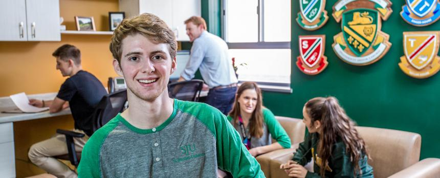 Image of students in common area