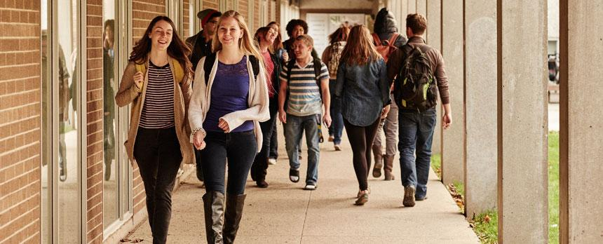 Image of Students in Passage in Campus
