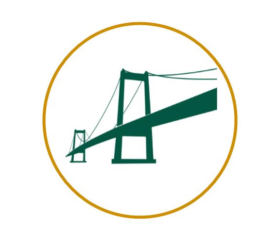 Green Bridge in Orange Circle