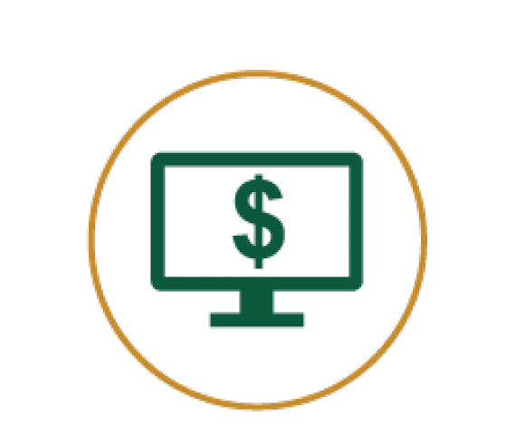 Icon of Desktop with Dollar Symbol on it