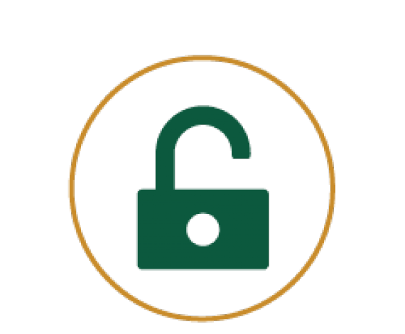 Icon for an Opened Lock